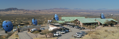 The FLWO with VERITAS in summer of 2009. Note the background mountains and compare them to the picture above !